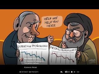 hezbollah vignetta sara assaf twitter