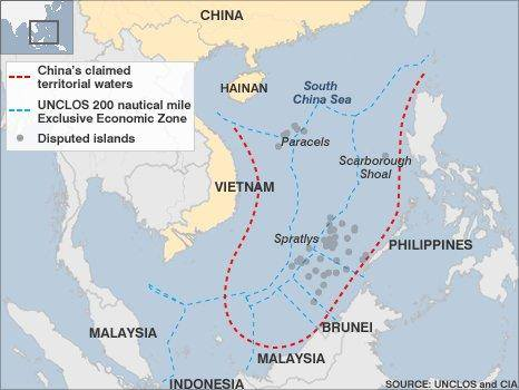 china islands map