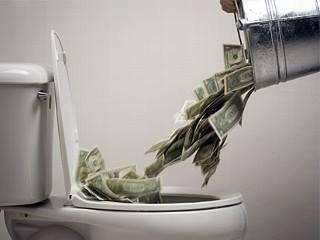 soldi nel water