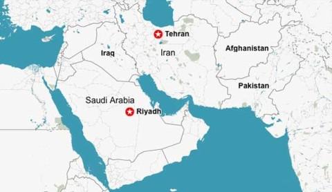 Medioriente mappa