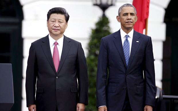 Il presidente della Cina Ki Jingping e Barack Obama