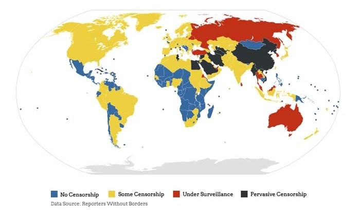 mappa censura