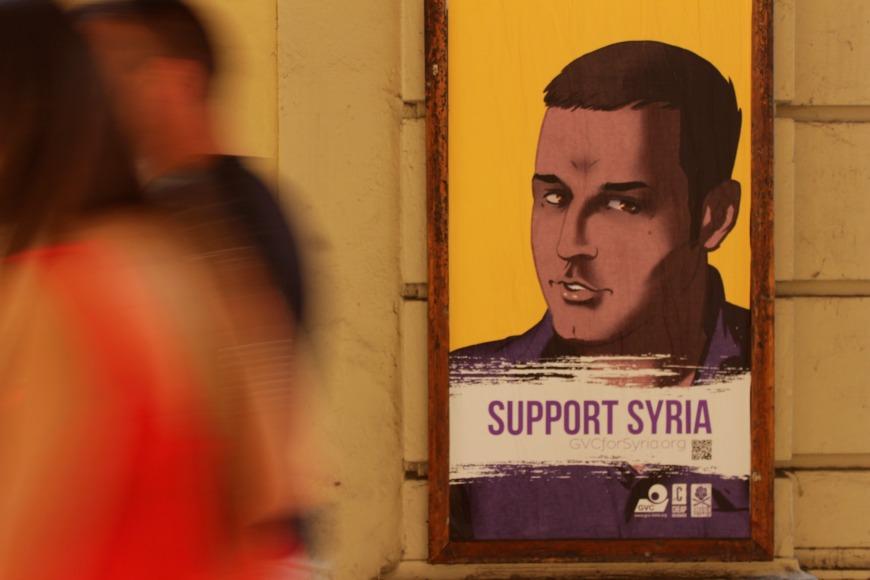 SupportSyria campagna bologna Dronio