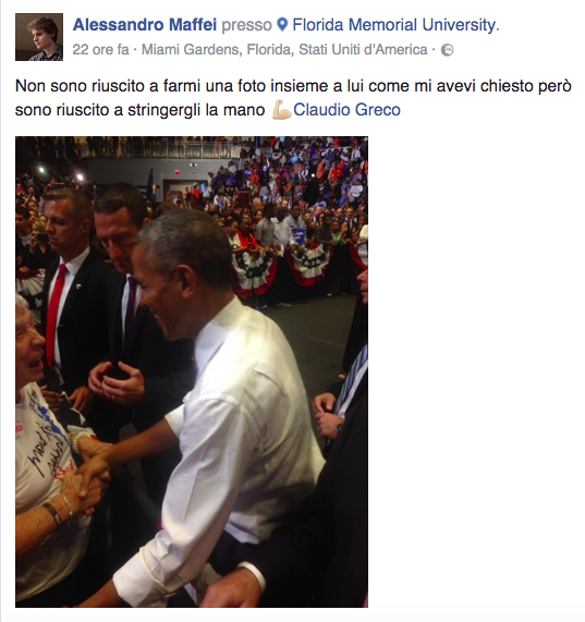 Barack Obama Miami Alessandro Maffei