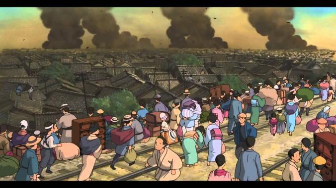 Immagine tratta dal Film in cui si assiste al Grande Terremoto del Kantō