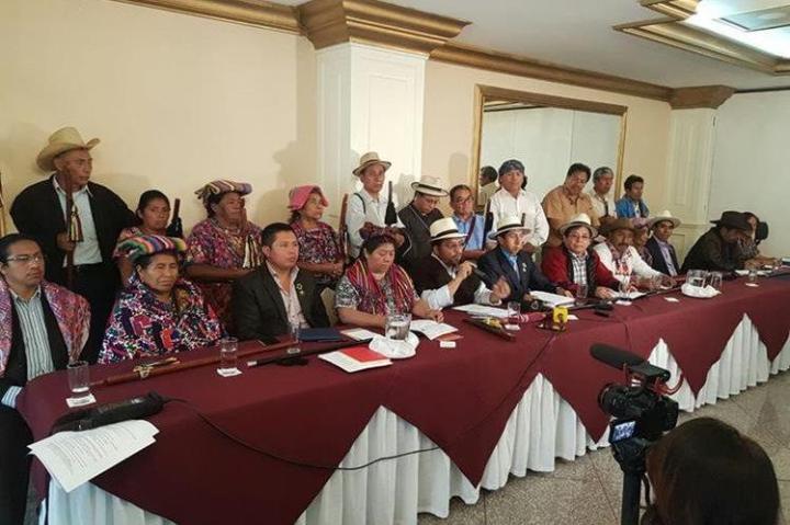 appresentanti di organizzazioni indigene. Fonte: Prensa Libre