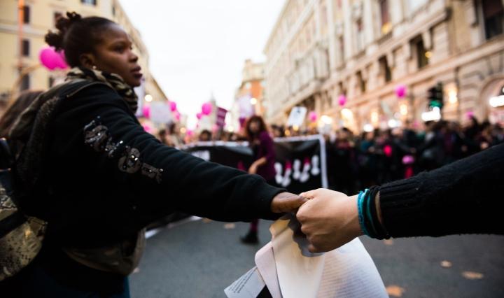 manifestazione roma spatari