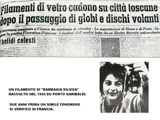BAMBAGIA SILICEA ARTICOLO GIORNALE ITALIA 1954