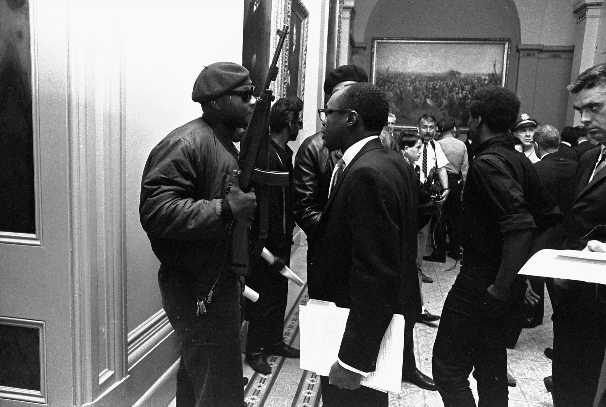 black panthers sacramento capitol guns