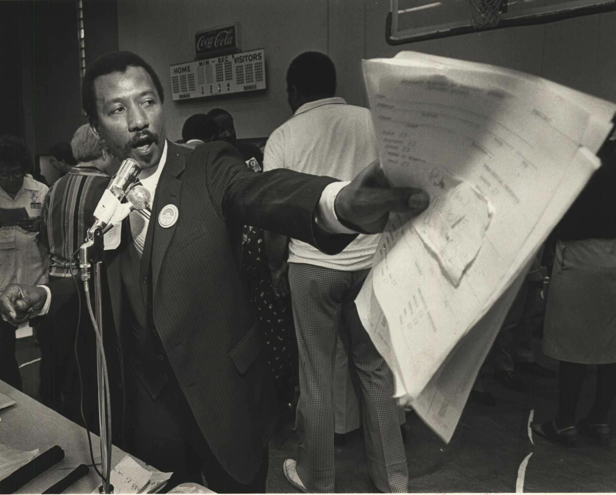 1984 Press Photo State Rep. Al Edwards of Houston at Senate Dist. 13 convention