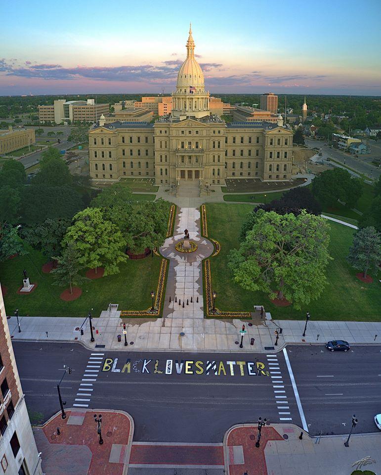 Lansing Capitol Building Black Lives Matter