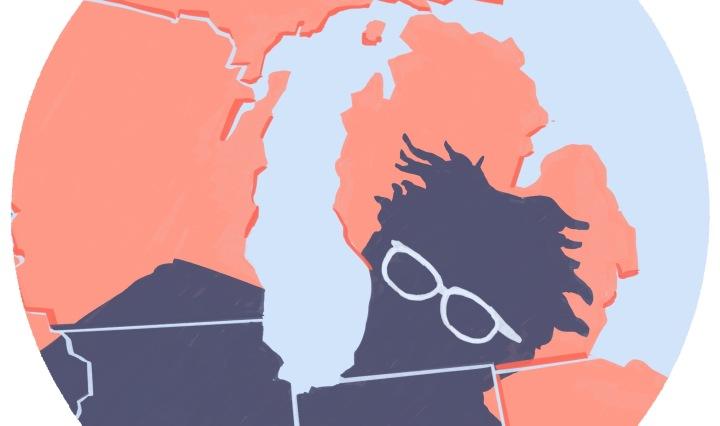 Bernie Sanders Michigan illustrazione Stefano Grassi