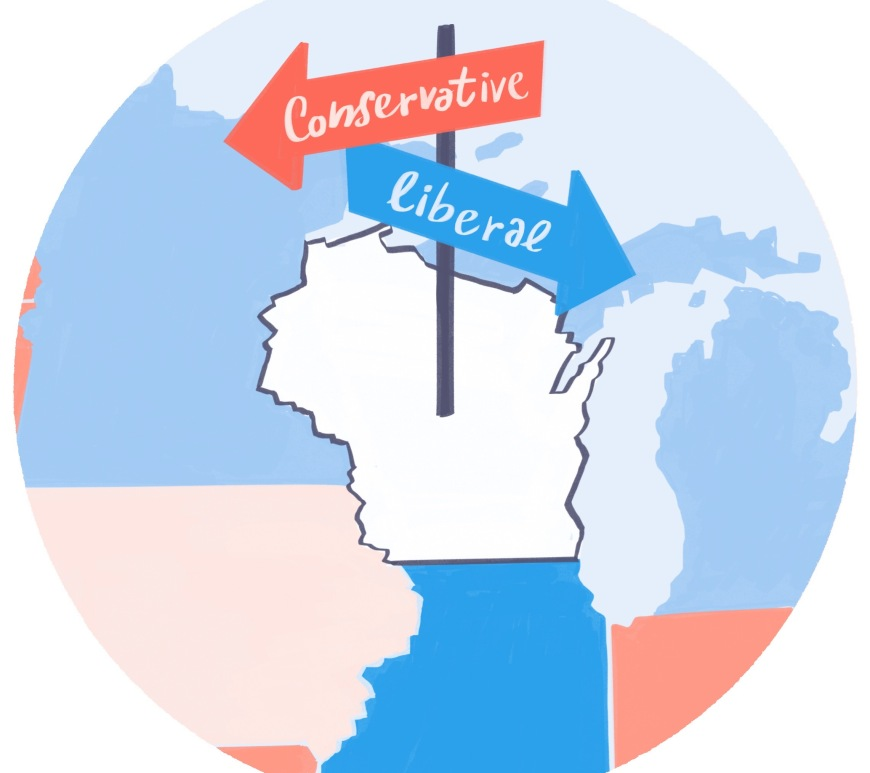 Wisconsin Election Map Graphic Stefano Grassi