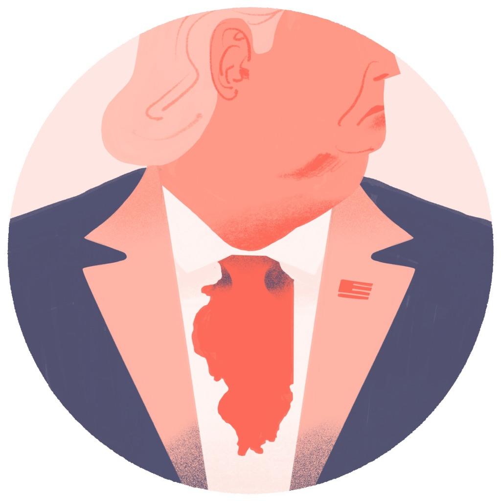 Trump Illinois Illustrazione Stefano Grassi